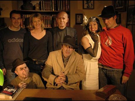 l'équipe du tournage, avec Boniface Alfonsi