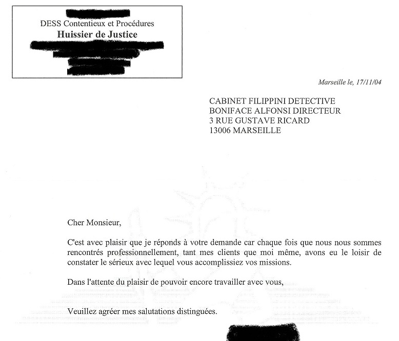 Temoignages De Clients Du Cabinet De Detective Prive Filippini Alfonsi