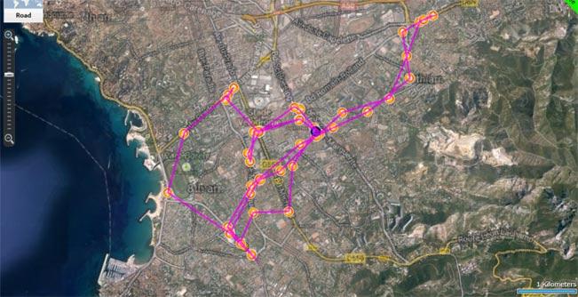 Tracking de véhicules ou d'objets à Marseille - capture d'écran